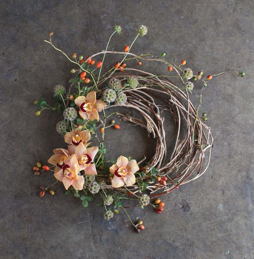 Orchid wreath. The Flower Recipe Book from studiochoo.com | designsponge.com