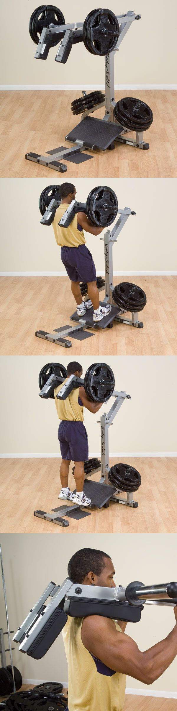 Other Strength Training 28067: Body-Solid Gscl360 Leverage Squat And Calf Machine - Plate Loaded Leg Exercise BUY IT NOW ONLY: $514.0
