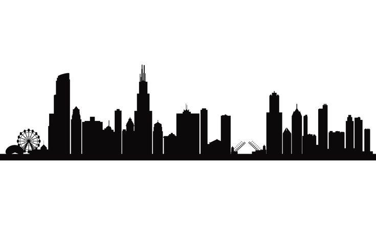 City skyline silhouette background - 312 Pizza Company