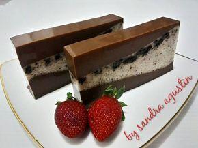 Puding Lapis Coklat Oreo