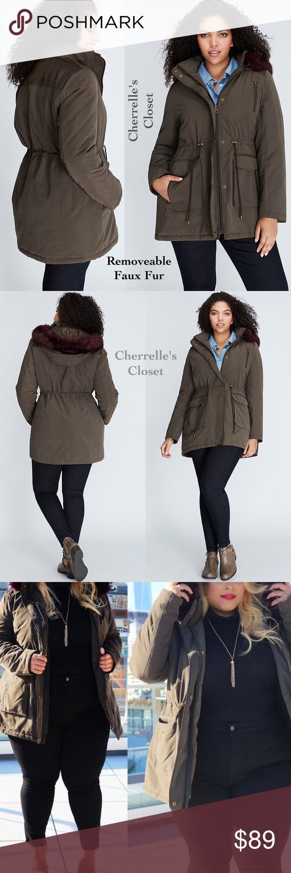 Lane Bryant Faux Fur Trimmed Parka Coat Plus Size Up for Sale is a Lane Bryant Faux Fur Trimmed Parka Coat Brand New With Tags Retails For $179.99 Plus Size 22/24 3X  Ready for its close-up: the fur-trimmed parka (and that pop of color). Detachable hood with faux fur (Unbutton Faux fur and/or Unzip hood). Quilted Lining. Zip and snap button front closure. Drawstring waist with toggles. Five Pockets  Nylon/Lycra Lane Bryant Jackets & Coats