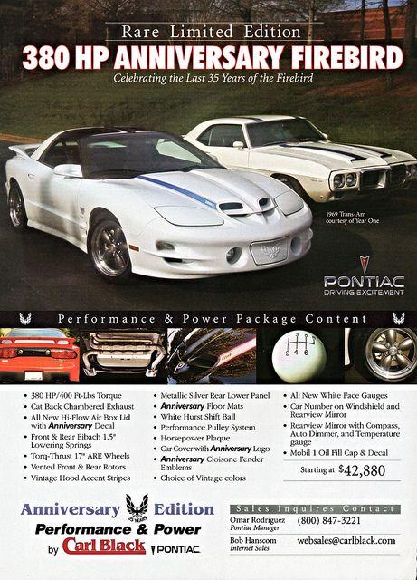2002 Pontiac Firebird Anniversary Edition