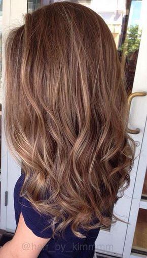 warm brunette balayage
