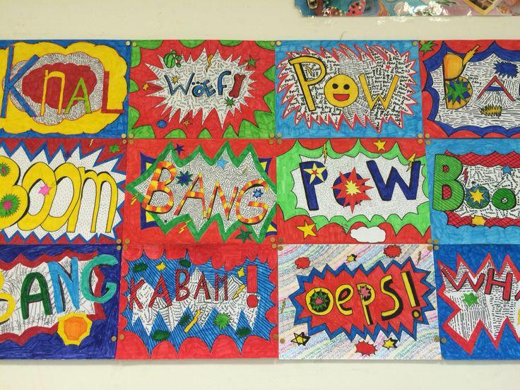 Leuke gekleurde teksten! Gemaakt door groep 8 van obs de Wilgenhoek uit Haarlem