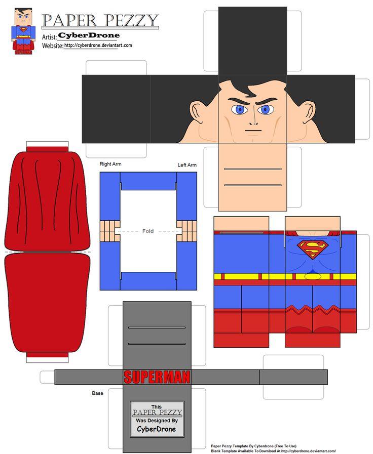 Paper Pezzy- Superman by CyberDrone.deviantart.com on @deviantART
