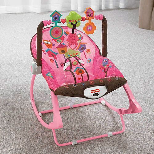 Infant to toddler Fisher-Price Pink Owl Rocker Bouncer ...