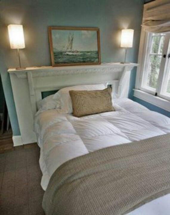 tête de lit manteau de cheminée