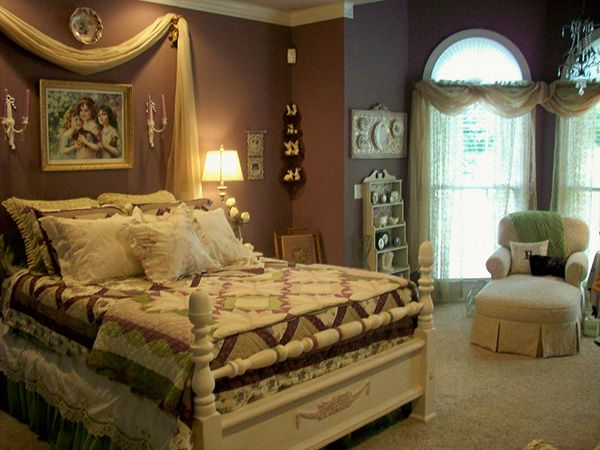 575 best images about shabby chic on pinterest romantic for Brown and purple bedroom ideas