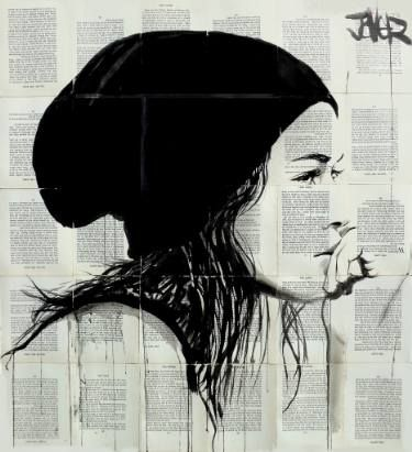"Saatchi Art Artist LOUI JOVER; Drawing, ""black beanie"" #art"