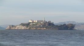 Alcatraz, considered to be one of the most haunted places in America.