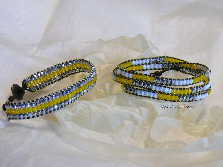Cristal checo #jewelry #handmade #gemstones #joyeria #hechoamano #artesania #piedras #wraps #leather #cuero
