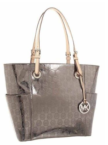 94eecd2531e4 ... reduced michael michael kors signature patent east west tote 01987 d1cfd