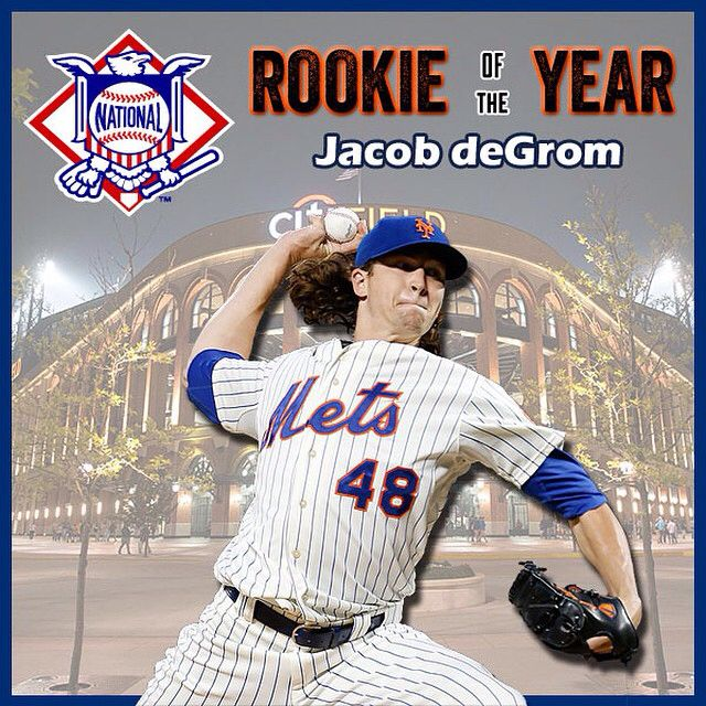 Your 2014 National League Rookie of the Year, Jacob deGrom!