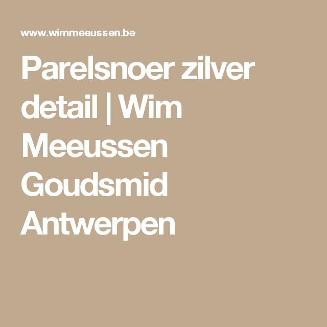 Parelsnoer zilver detail   Wim Meeussen Goudsmid Antwerpen