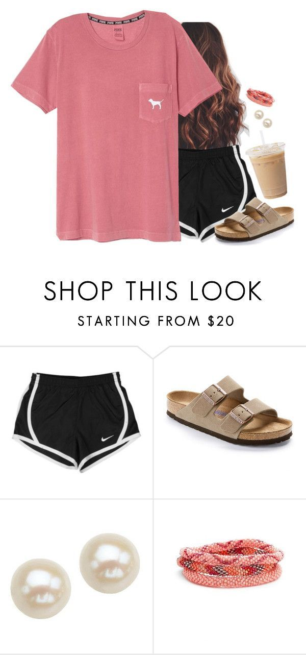 """""""@flroasburn and i have this shirt"""" by aweaver-2 on Polyvore featuring NIKE, Birkenstock, Honora and Aid Through Trade"""