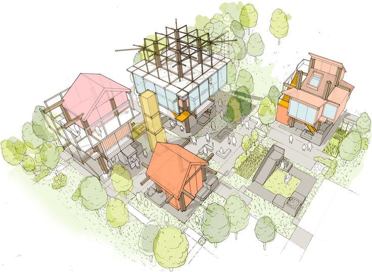 "Matt Lucraft confronts London's housing crisis with ""mock-tudor-cum-metabolist"" building system"
