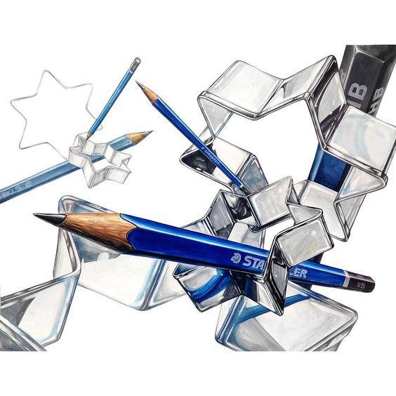 쿠키틀과 연필 연구작 #디자인 #입시미술 #미술 #기초디자인 #art #design #미대입시 #그림 #illust #f4f #follow #포항 #나다움 #미술학원: