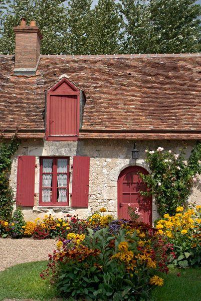 'red door, red windows, red roof - rote Tür, rote Fenster, rotes Dach' von Ralf Rosendahl bei artflakes.com als Poster oder Kunstdruck $16.63