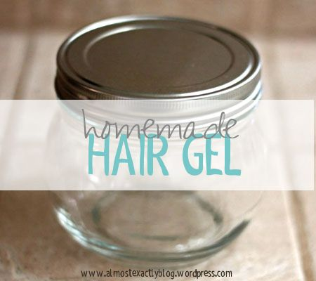 homemade hair gel. perfect for no-poo-ers & curlies