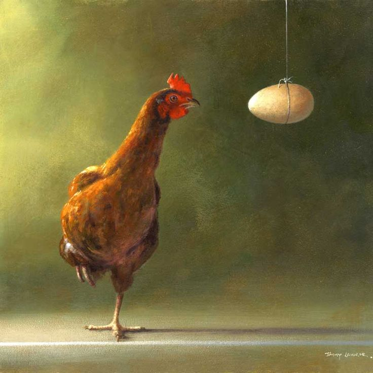 The chicken and the egg by Jimmy Lawlor - PRINT | Artist J Lawlor ...