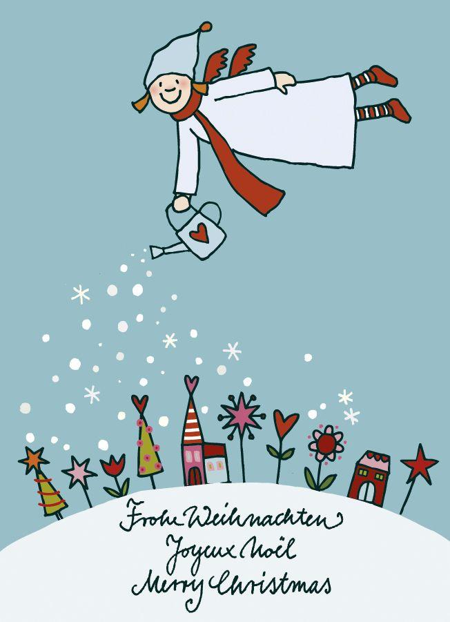 Stefanie Krauss Design und Illustration | Himmlische Schwestern | Weihnachtskarte (für Räder)