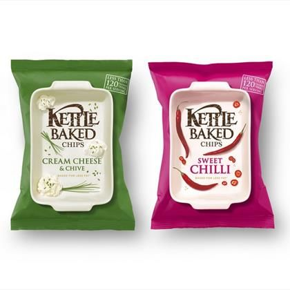 Kettle Baked potato chip bags #packaging