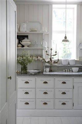 """white kitchen cabinets . . . """" this is the kitchen that inspired me when designing and building ours ~ and the blog is a favorite of mine"""" ~ Thanks, Jen"""
