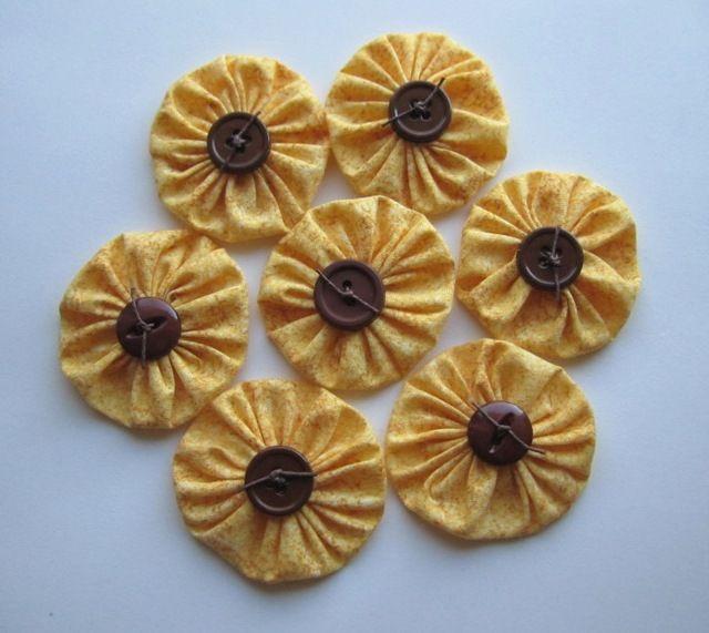 sunflower yo-yos does it get any better?  I love these sweet yo yos