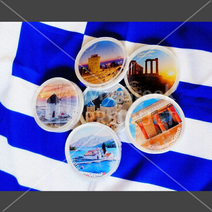 Decorative soap with pictures of Greece 35gr. produced in Thessaloniki.  Handmade glycerin soap enriched with goat's milk, shea butter and almond oil. It has a strong and sweet smell. This product is made from 100% natural ingredients. Perfect for souvenir gift.   The costumer can order any Greece pictures in the little soaps. http://mygreekproduct.com/index.php?id_product=110&controller=product&id_lang=1