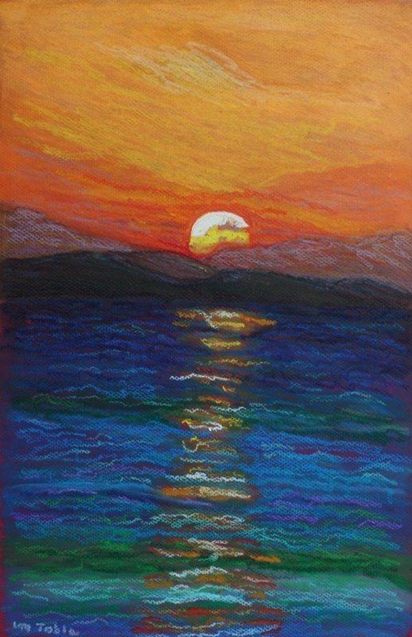 Horizon Sunset Drawing
