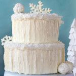 Snowflake Chocolate Cake by 1 Fine Cookie, snow, covered, cake, coconut, icicles, sugar, isomalt, winter, wonderland, white, snowflake, glit...