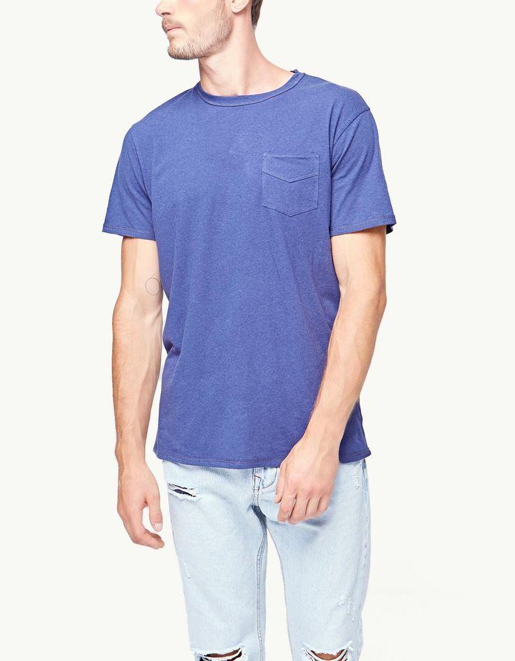 Camiseta lino bolsillo - null | Stradivarius España