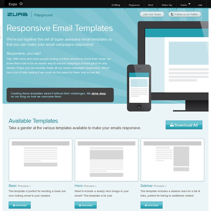free responsive email templates - 68 best free marketing resources images on pinterest