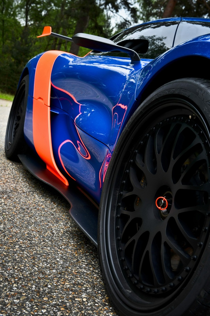 #Renault #Alpine A110-50 Concept with #Nissan V6 Revealed in Full Detail 70 #Photos - Other differences over the DeZir include the Alpine A110-inspired half-domed additional lamps that feature LED yellow lighting, air-intakes on each side of the car and 21-inch wheels with a single central nut that are wrapped around in road homologated Michelin tires.