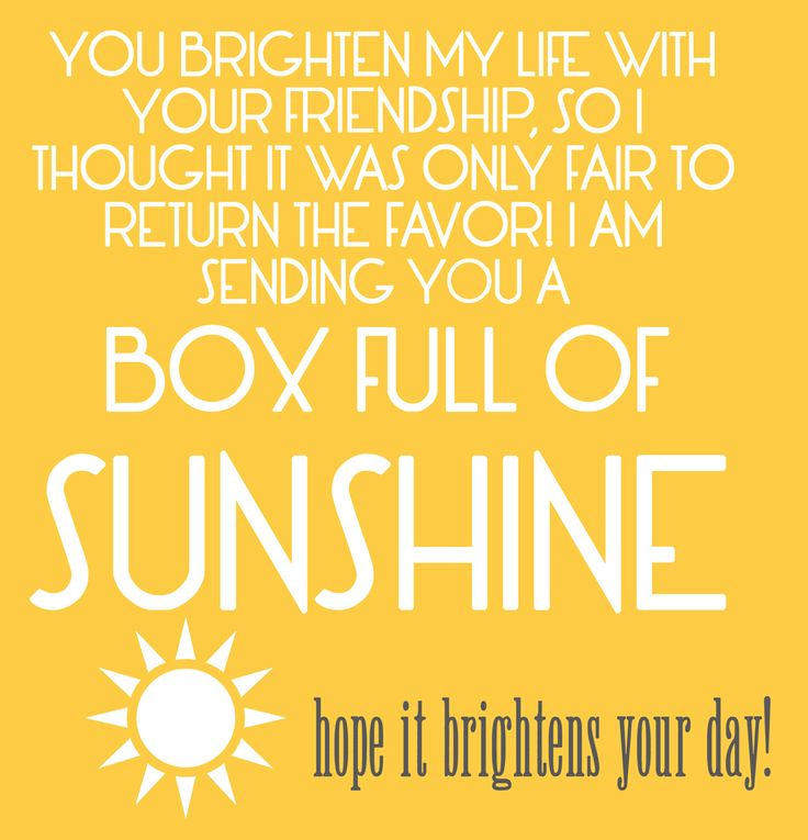 """Printable gift tags to go with Happy Money Saver's """"box of sunshine"""" gift idea."""