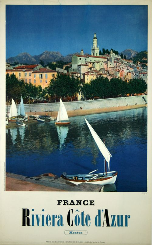 France Riviera Côte D'Azur Menton - France - 1950 - photo de Petit