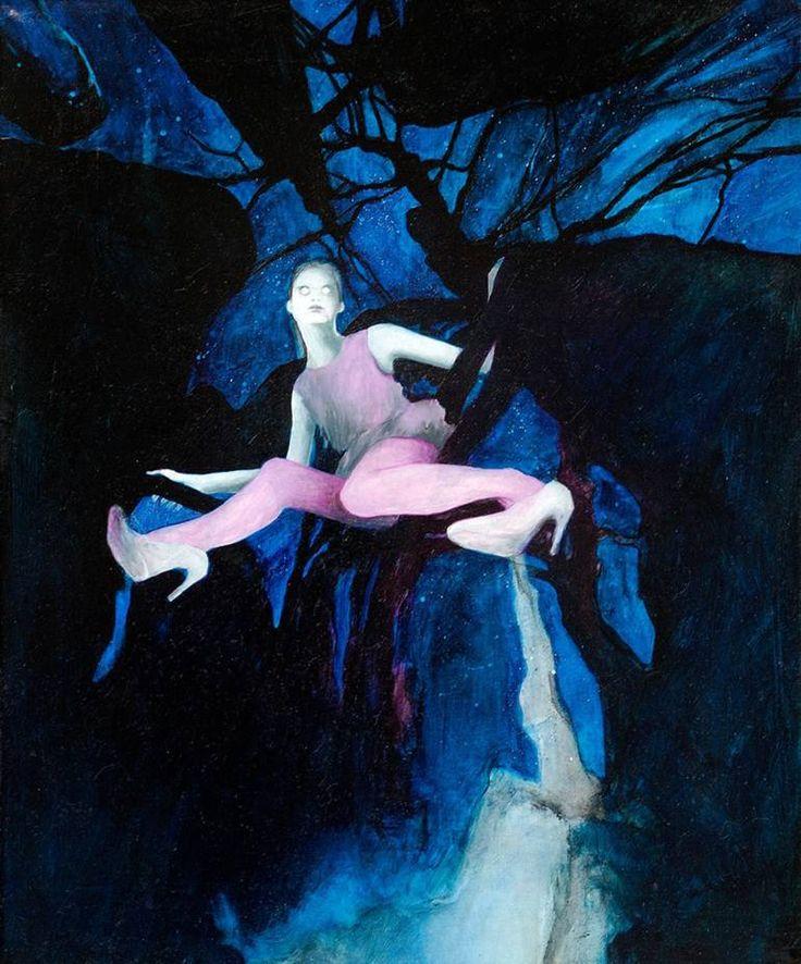 """Saatchi Art Artist Ewa Zwarycz; Painting, """"Hiding place"""" #art"""