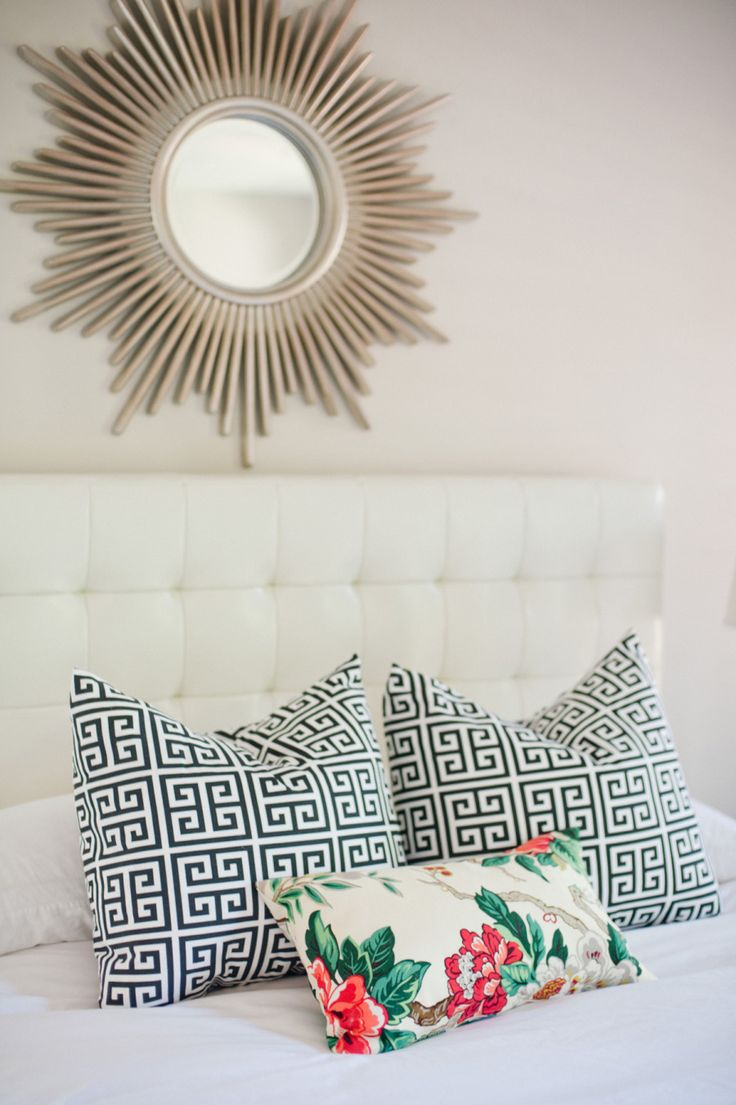 Throw pillows are a fabulous way to incorporate a pop of personality and infuse those black and white hues.