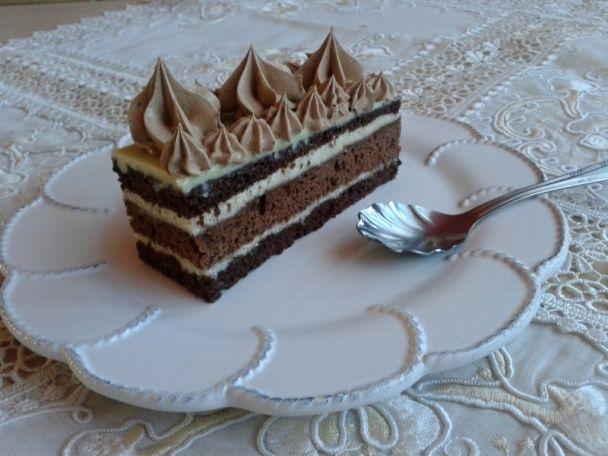 Kakaové rezy s krupicovým krémom a fernetom (fotorecept) - obrázok 14