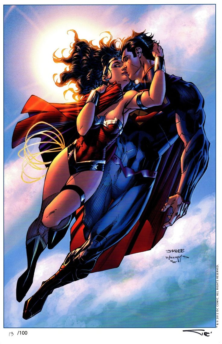 Wonder Woman & Superman By: Jim Lee.   Comic Book Couples