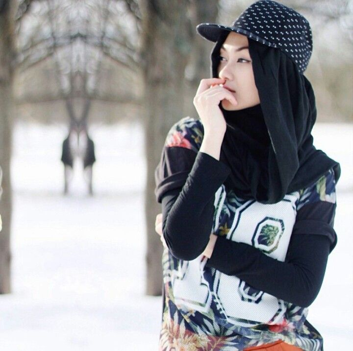 Hijab x Hat.. a smart way for you who loves hat.. hijab-hiphop style Hijab outfit by Indah Nada ♥
