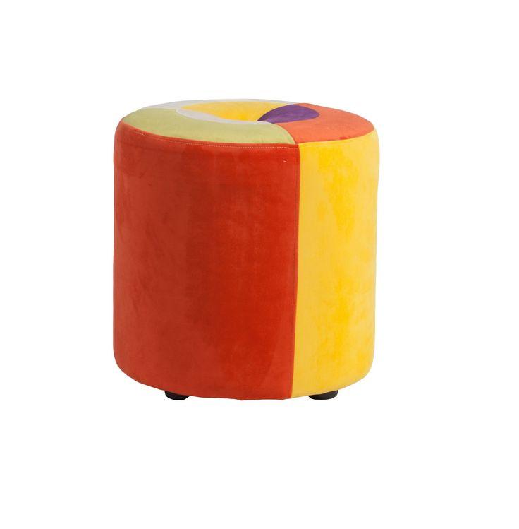 Пуф Parrandero Solar цилиндрической формы смотрится очень стильно и изысканно. Он визуально сгладит остроту углов в интерьере, привнесет в него яркие краски и очарование. Такой предмет мебели станет прекрасным украшением как спальни для взрослых, так и детской комнаты. Благодаря сочетанию нескольких цветов он прекрасно будет гармонировать с остальной мебелью и оформлением вашего дома в целом.             Материал: Ткань, Дерево.              Бренд: DG Home.              Стили: Лофт, Поп-арт…