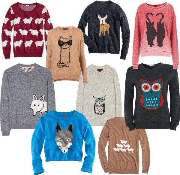 A fall staple: animal sweater