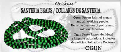 Santeria Beads--OGUN