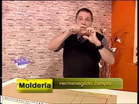 Explica el MOLDE DE UN PANTALON   Hermenegildo Zampar - Bienvenidas TV - Explica el molde de un Pantalón.