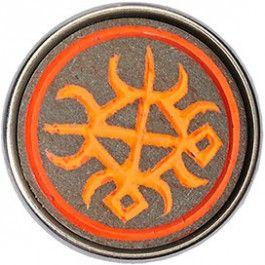 NOOSA Chunk Funtufu Neon Orange Y7 | BIJ'TIJHet Ghanese Funtunfunefu of -funtufu- symbool weerspiegelt twee kruisende krokodillen, welke een maag delen. Dit teken staat symbool voor eenheid in democratie.