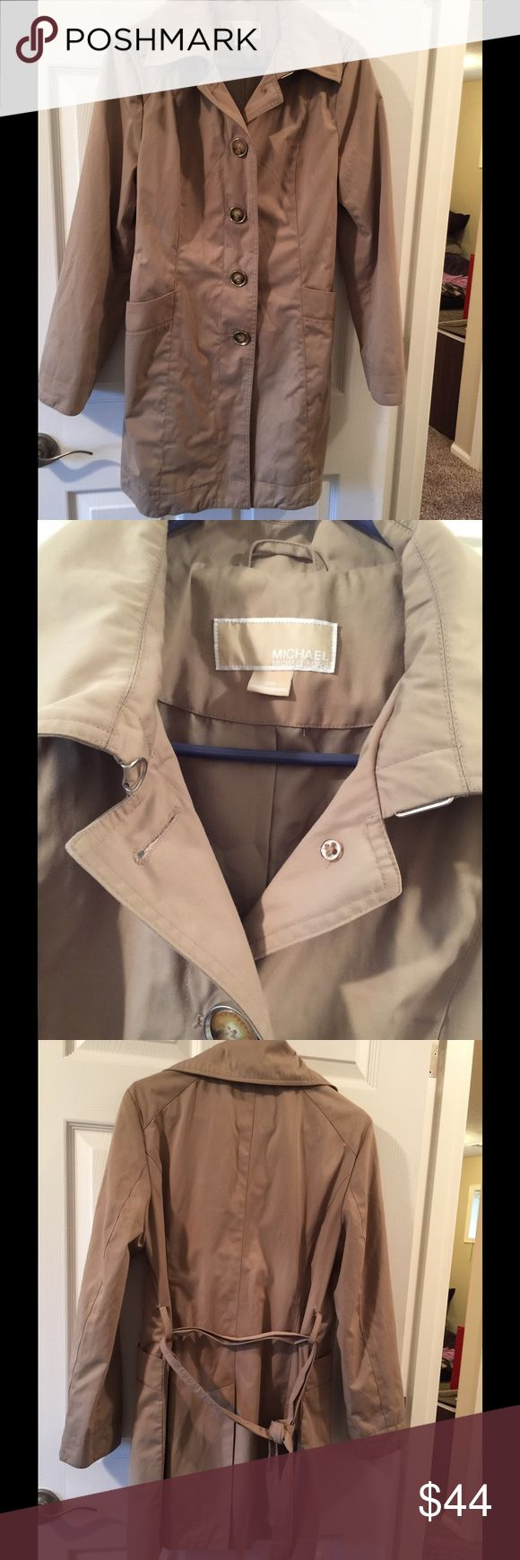 MK tan trench jacket coat M Great for dress and a rainy day  Beautiful Michael Kors  Excellent condition Michael Kors Jackets & Coats Trench Coats