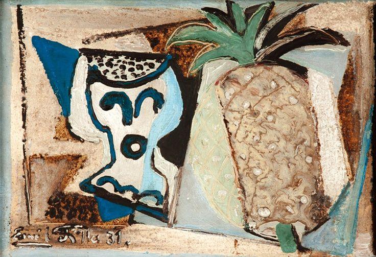 Emil Filla | Zátiší s ananasem, 1931