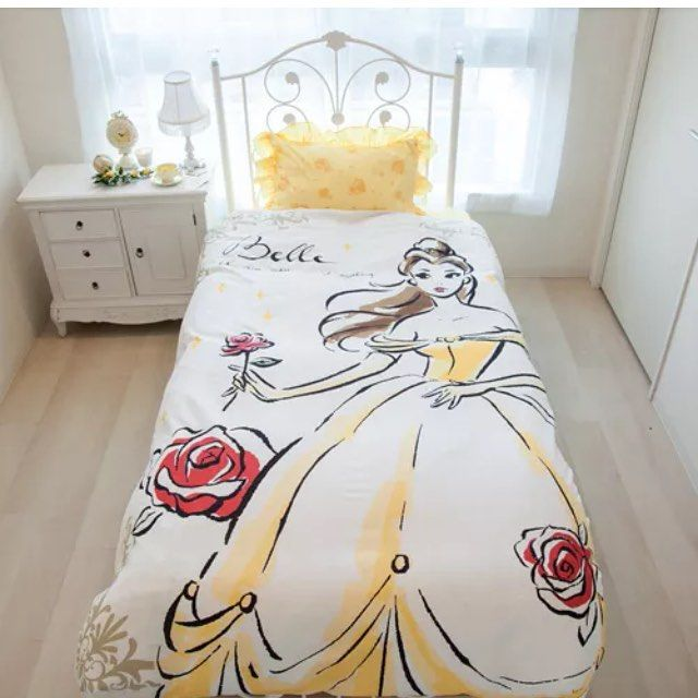 "disneylifestylers: "" Beauty and the Beast bed set from eBay #disney #beautyandthebeast #belle #disneyhome """