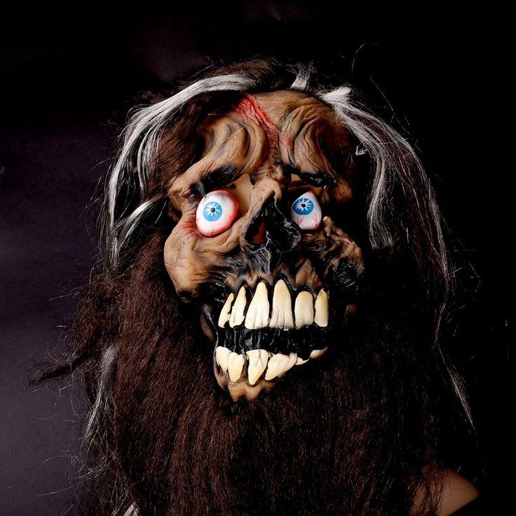 """Волосы бороды глаз дьявола маски силиконовые маски шутки реквизит Хэллоуин """"дом террора"""" маска страшный ужас косплей костюм бал-маскарад маски"""